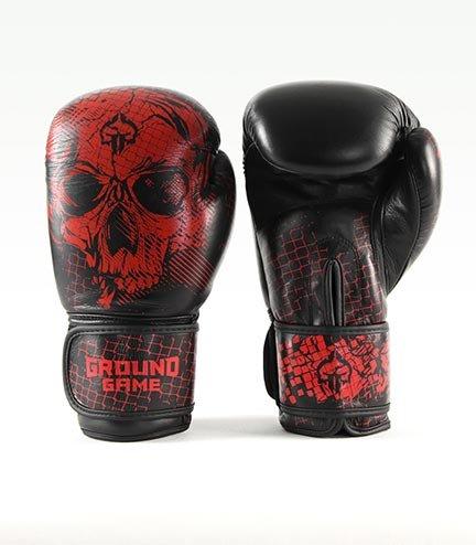 "Boxerské rukavice PRO Ground Game ""Red Skull"" 16 oz"