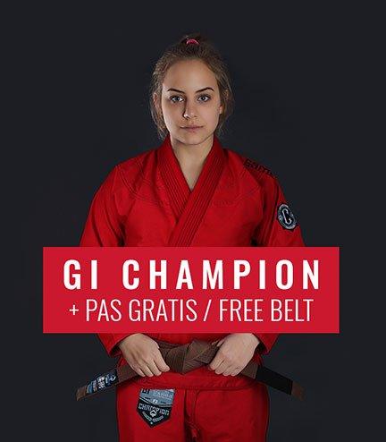 "Dámské kimono GI BJJ  Ground Game ""Champion 2.0"" (Červené) + pásek ZDARMA"