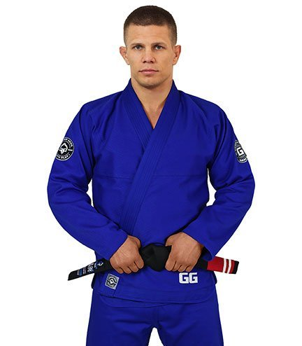 "Kimono Gi BJJ Ground Game ""Gamer"" Modré"