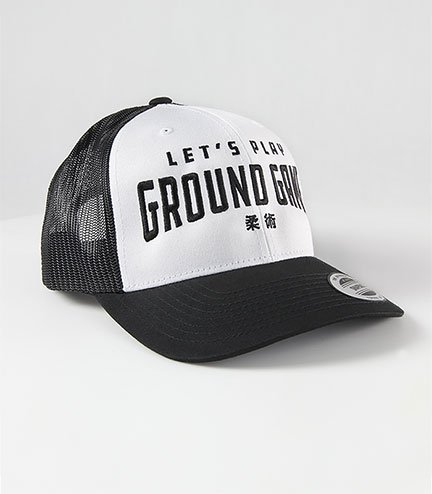 "Kšiltovka Ground Game ""Kanji White Trucker"""