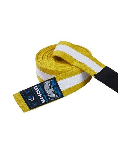 Pásek BJJ Ground Game dětský (Žluto-bílý)