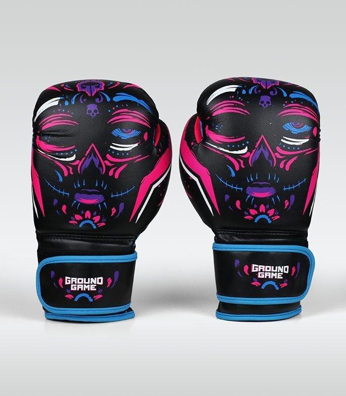 """Dámské boxerské rukavice Ground Game  """"La Muerta"""" 14 oz"""