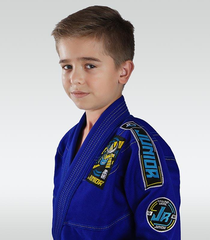 """Dětské kimono GI pro BJJ Ground Game  """"Junior 3.0"""" (Modré)"""