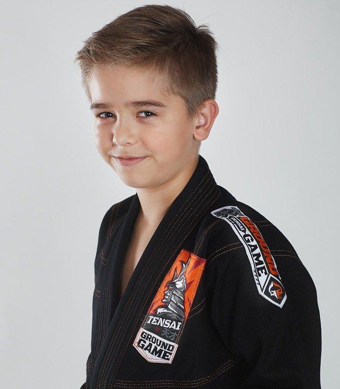 "Dětské kimono GI pro BJJ Ground Game  ""Tensai"" (Černé)"