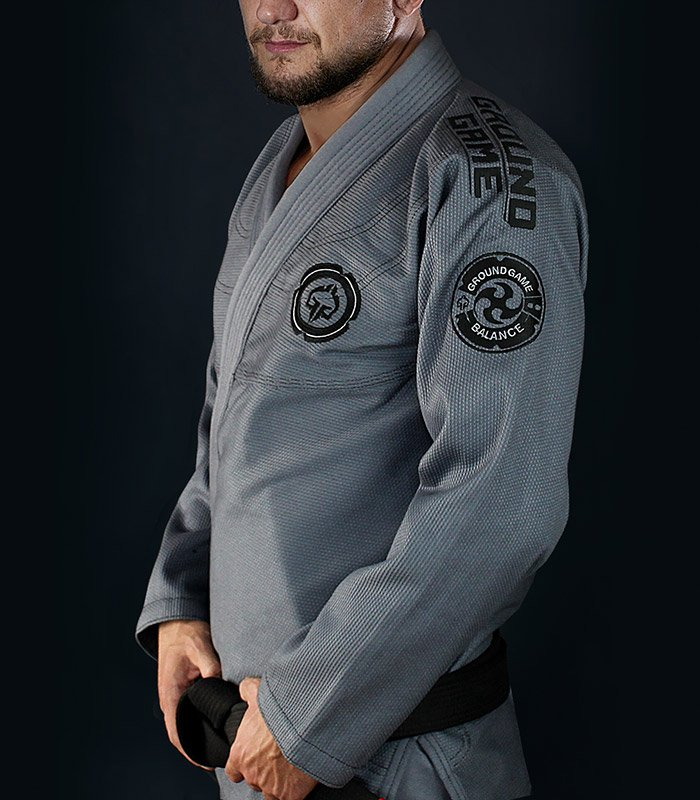 "Kimono Gi BJJ Ground Game  ""Balance 3 Shadow"" (Šedá)"