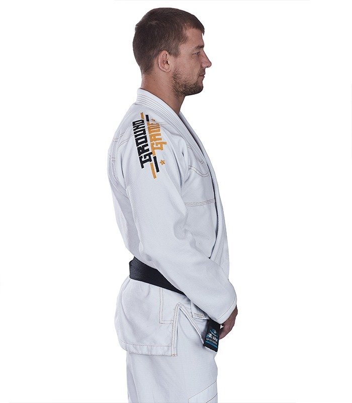 "Kimono Gi BJJ  Ground Game ""Champion"" (Bílé)"