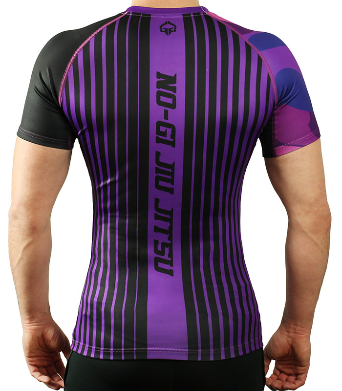 Rashguard Ground Game BJJ IBJJF fialový