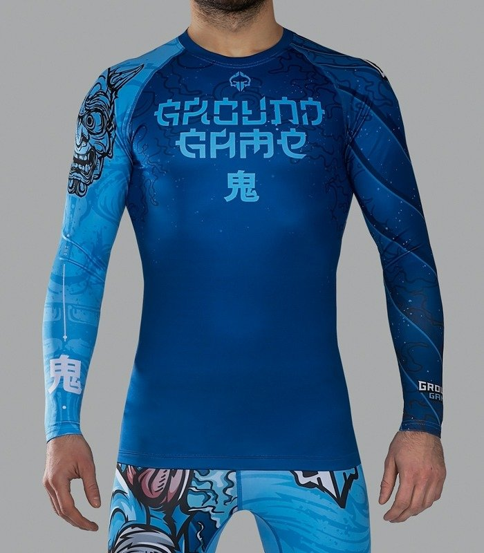 "Rashguard Ground Game  ""Oni"" dlhý rukáv"