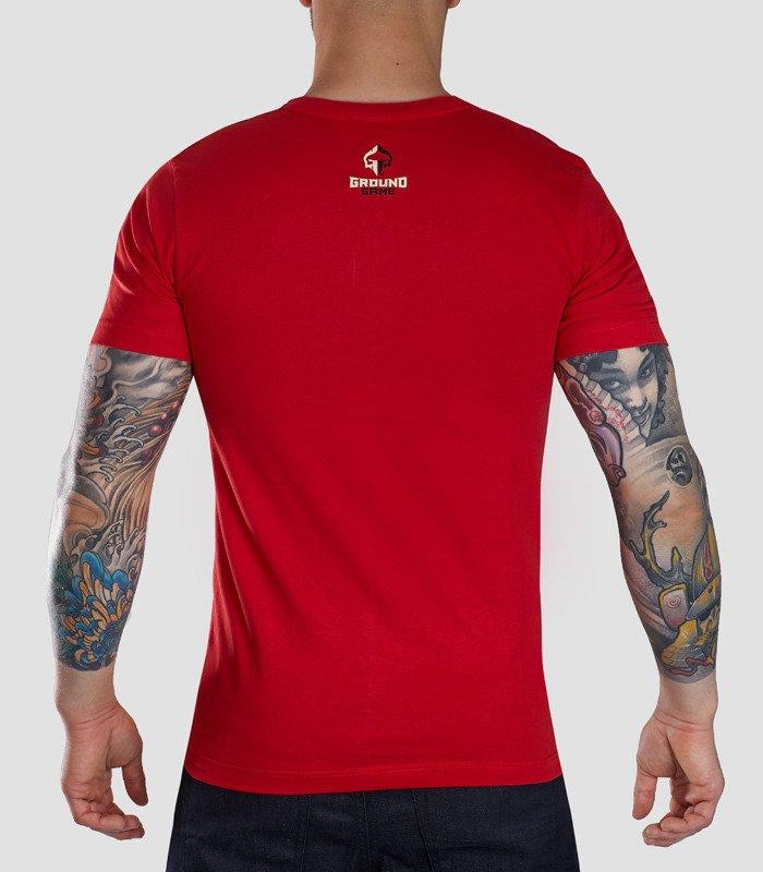 """Pásnké tričko Ground Game """"Chillin"""" červené"""
