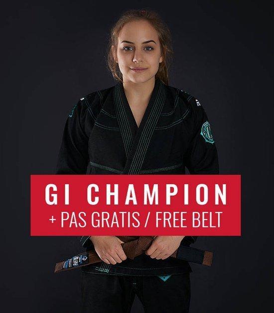 """Dámské kimono GI BJJ  Ground Game """"Champion 2.0 Mint"""" (Černé) + pásek ZDARMA"""