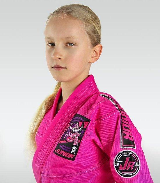 "Dětské kimono GI pro BJJ Ground Game ""Junior 3.0"" (RŮŽOVÁ)"