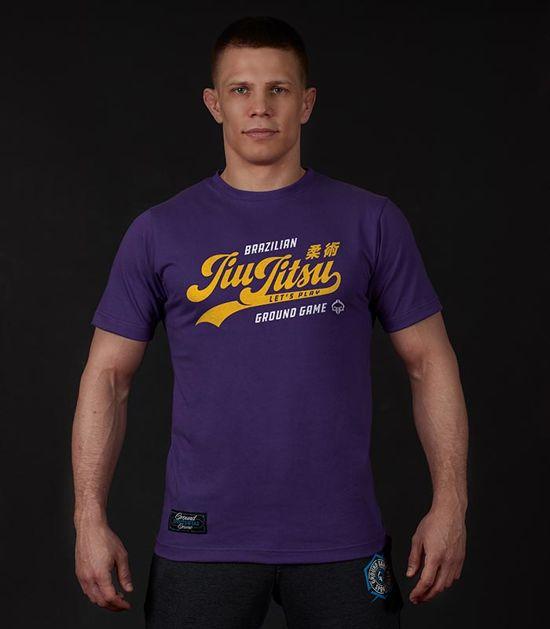 """Pánské tričko Ground Game """"Jiu Jitsu"""" fialový"""