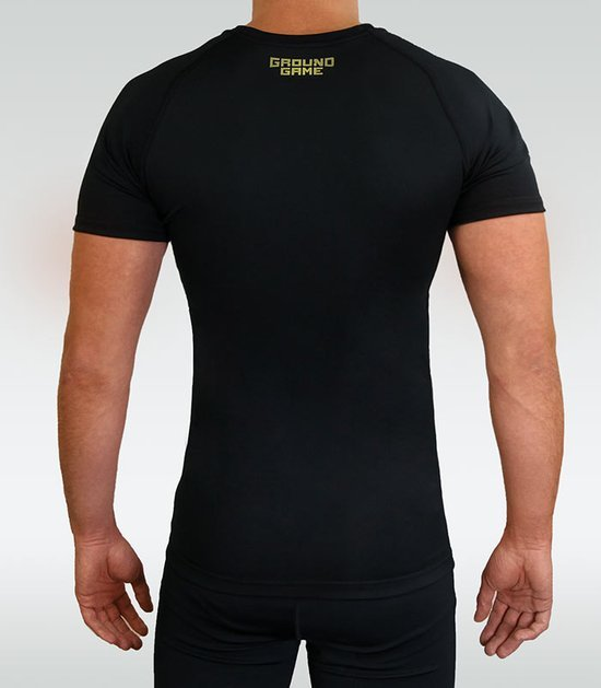 "Rashguard Ground Game ""Athletic Gold"" krátky rukáv"