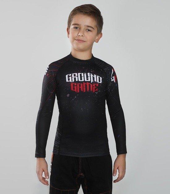 "Rashguard  Ground Game ""Samurai Mask"""