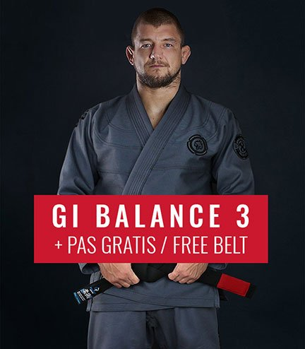 "BJJ GI ""Balance 3 Shadow"" (Grey)  + FREE Belt"