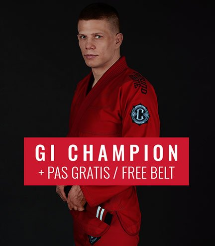 "BJJ GI ""Champion 2.0"" (Red) + FREE Belt"