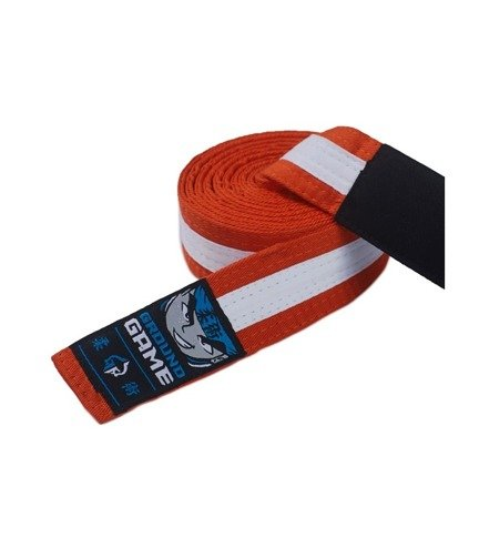 BJJ Kids Belt (Orange with white stripe)