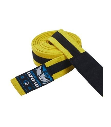 BJJ Kids Belt (Yellow with black stripe)