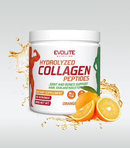 Evolite Hydrolyzed Collagen Paeptides 300g Orange