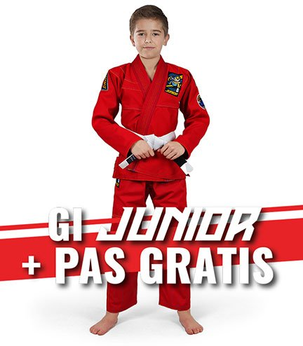 """Junior 3.0"" BJJ Kids GI (Red) + FREE Belt"