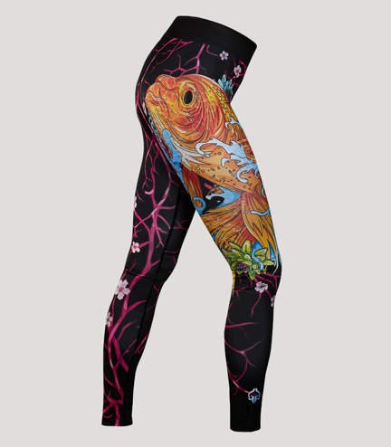 "Leggings ""Koi Black"""