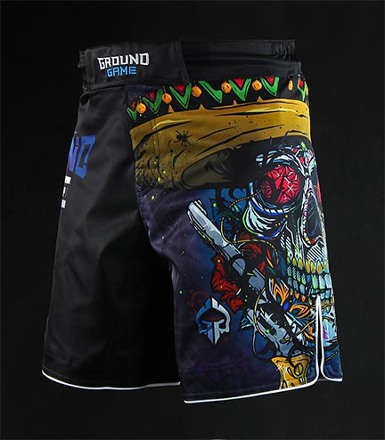 "MMA Shorts ""Mexican Skull"""