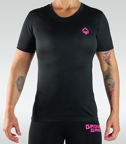 """Rashguard """"Athletic"""" Pink short sleeve"""