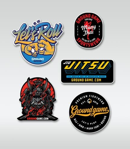 Set of 5 Ground Game stickers