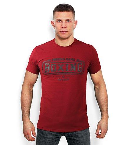 """T-shirt """"Boxing"""" Burgund"""