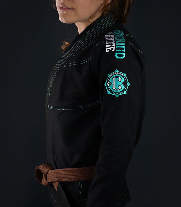 "BJJ Women`s GI ""Champion 2.0 Mint"" (Black)"