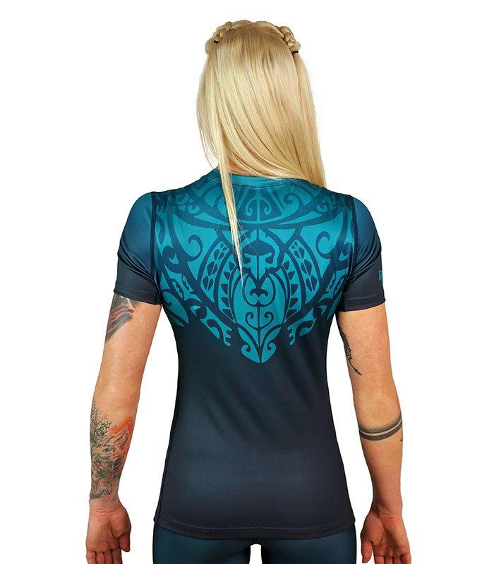 "Rashguard ""Mandala"" Emerald short sleeve"