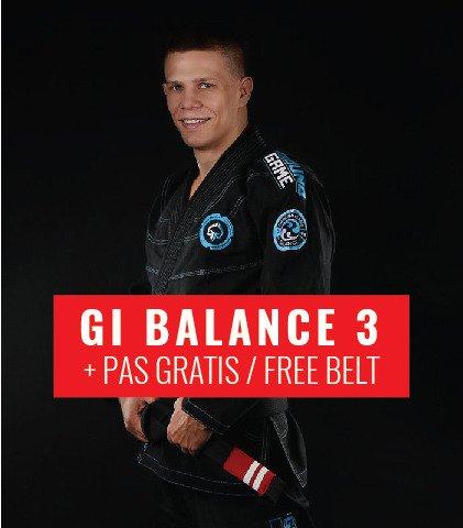 "BJJ GI ""Balance 3"" (Black) + FREE Belt"