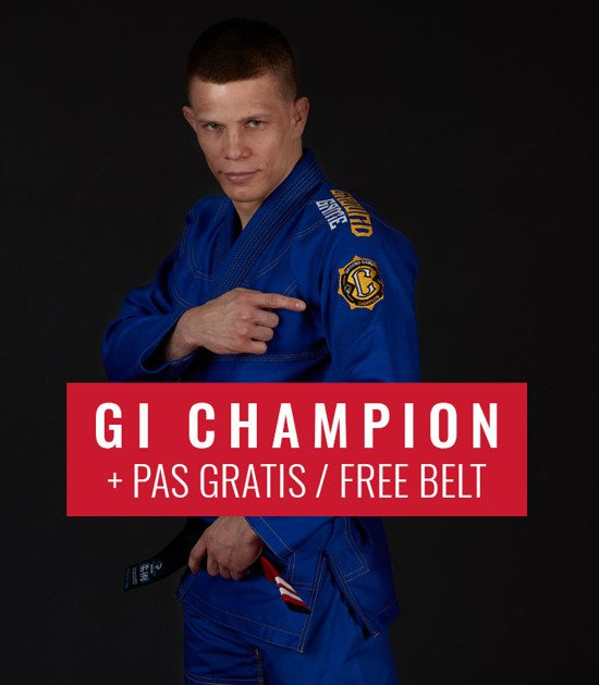 "BJJ GI ""Champion 2.0"" (Blue) + FREE Belt"