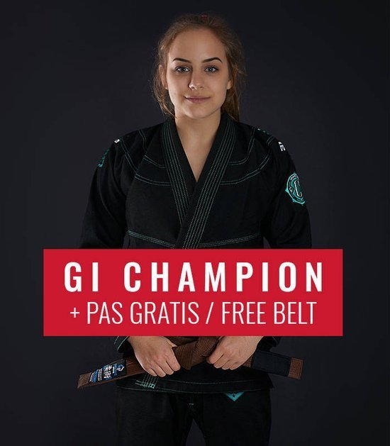"BJJ Women`s GI ""Champion 2.0 Mint"" (Black) + FREE Belt"