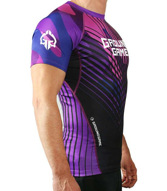 IBJJF Rank Rash Guard for BJJ - Purple