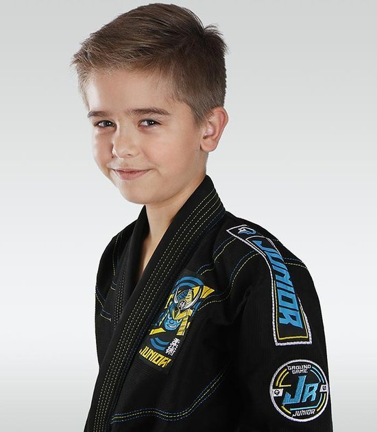 """Junior 3.0"" BJJ Kids GI (Black) + FREE Belt"