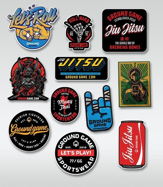 Set of 11 Ground Game stickers