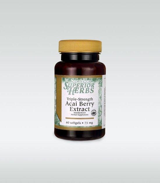 Swanson Acai Triple Strength 75 mg 60 caps