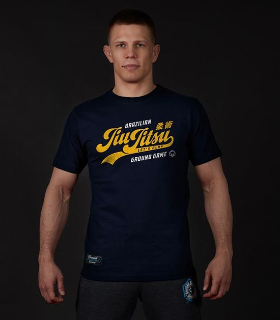 "T-shirt ""Jiu Jitsu"" Dark navy"