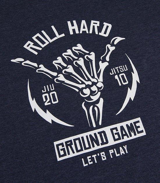 "T-shirt ""Roll Hard"" Navy Blue Melange"