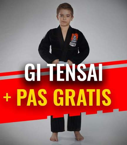 """GI do BJJ dla dzieci """"Tensai"""" (Czarne) + pas GRATIS"""