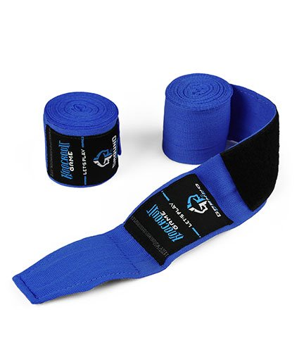 """Bandaże bokserskie """"Classic"""" niebieskie"""