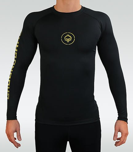 "Rashguard ""Athletic Gold"" długi rękaw"