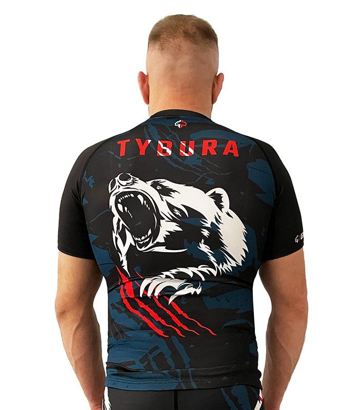 """Rashguard """"Marcin Tybura"""" krótki rękaw"""