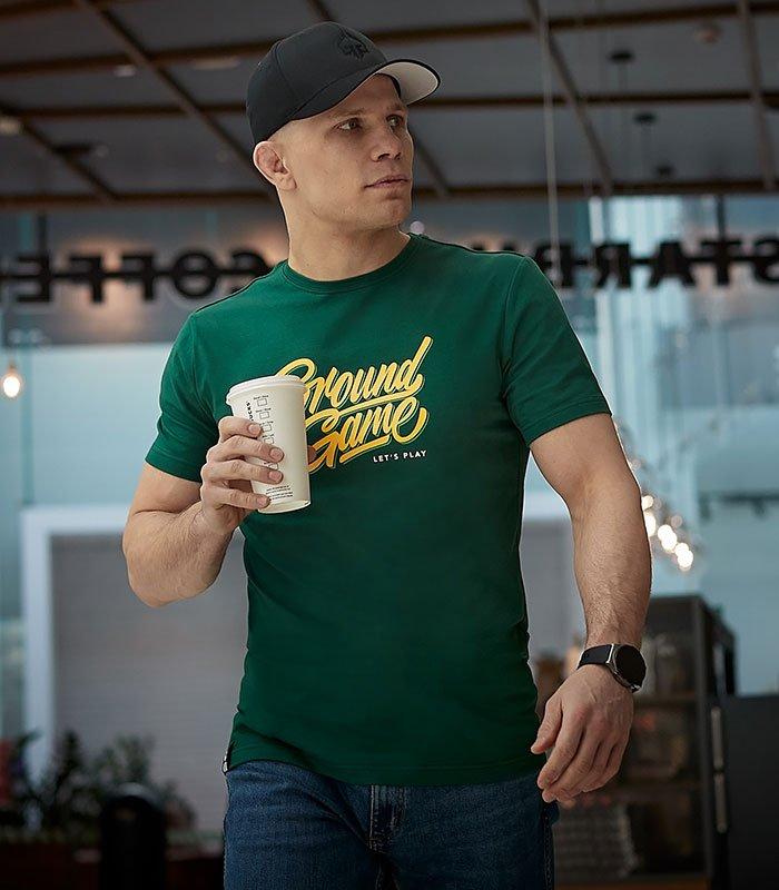 """T-shirt """"Tag"""" Zielony"""