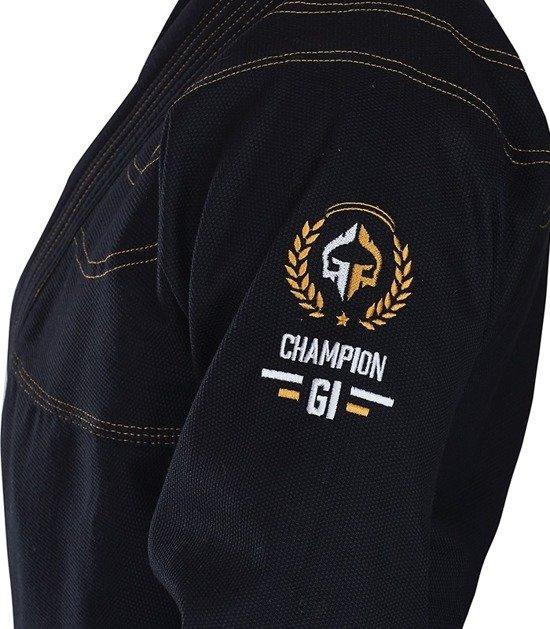 "GI do BJJ ""Champion"" (Czarne)"