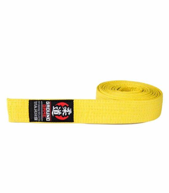 Pas Judo dla dzieci żółty