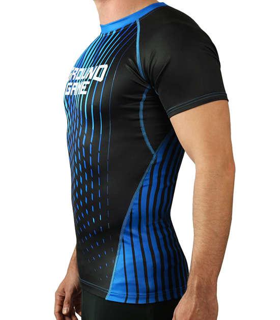Rashguard do BJJ rankingowy IBJJF niebieski
